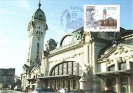 Carte Maximum YT 4029 Gare Des Bénédictins à Limoges 1er Jour 23 03 2007 Limoges 87 Parfait état - 2000-09