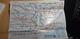Original Japan Tokyo Subway Route Map - Autres Collections