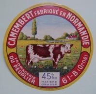 Etiquette Camembert - Vache Normande - Fromagerie Du Peuplier 61-B Normandie - Orne    A Voir ! - Fromage