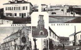 64 PYRENEES Atlantiques Multivues De BOUCAU Cpsm La Poste La Calle Le Carrefour L'église - Boucau