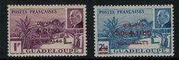 France // Guadeloupe // 1944 // Vue De La Grande Souffrière Avec Surcharge Timbre MNH** No.173-174 Y&T - Ungebraucht