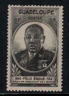 France // Guadeloupe // 1945 // Gouverneur Eboué Timbre MH* No.176 Y&T - Guadeloupe (1884-1947)