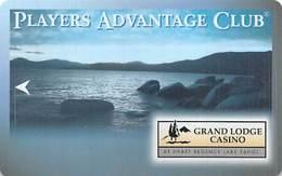 Grand Lodge Casino - Lake Tahoe NV - BLANK Slot Card - Casino Cards