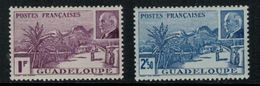 France // Guadeloupe // 1941 // Grande Soufrière Timbre MH* No.161-162 Y&T - Ungebraucht