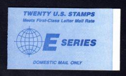 "ETATS-UNIS 1988 - Carnet Yvert C 1808b - Scott #2282a - NEUF** MNH - La Terre, Lettre ""E"" - 1981-..."