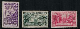 France // Guadeloupe // 1937 // Expo De Paris Timbre MH* No.133-134-135 Y&T - Guadeloupe (1884-1947)