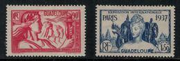 France // Guadeloupe // 1937 // Expo De Paris Timbre MH* No.137-138 Y&T - Guadeloupe (1884-1947)