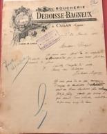 Boucherie Deboisse-Bagneux à Culan (Cher) Le 27 Décembre 1907 - Alimentare