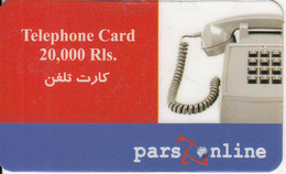 IRAN - Telephone, Pars Online Prepaid Card 20000 Rls, Used - Iran