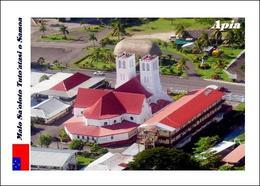 Samoa Apia Cathedral Aerial View New Postcard - Samoa