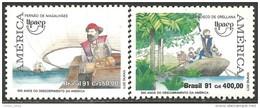 212 Brazil Discovery America Colombus Colomb Colon Découverte Amérique MNH ** Neuf SC (BRE-139a) - Brésil