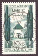 Maroc 1948 - Yt N° 67a  Poste Aérienne.  Oblitéré  -  TB  - - Morocco (1891-1956)