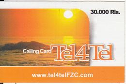 IRAN - Sunset, Tel4Tel Prepaid Card 30000 Rls, Used - Iran