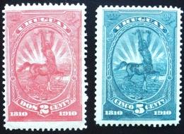 1910 URUGUAY MNH CENTAURO CENTAUR HORSE CABALLO CHEVAL Complete Set Yvert 181/82 - Uruguay