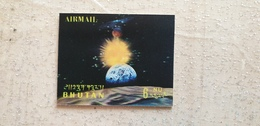Bhutan SPACE Moon Earth Sun Astronaut LEM Spaceship Hologram 3D Astronomy Science Flight SPAZIO Mnh ** New - Espacio