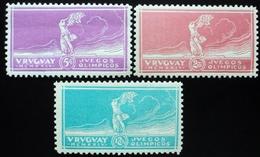 1924 URUGUAY MNH VICTORIA JJOO PARIS FUTBOL SOCCER VICTORY OLYMPIC GAMES FOOTBALL MUNDIAL Complete Set Yvert 281/3 - Uruguay