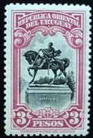 1928 URUGUAY MNH  GRAL. ARTIGAS  Monument HORSE CABALLO CHEVAL Pferd 3 Pesos  Yvert 358 - Uruguay