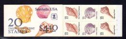 ETATS-UNIS 1985 - Carnet Yvert C 1579 - Scott #2121a - NEUF** MNH - Coquillages, Seashells - 1981-...