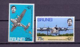 1972 Brunei Opening The Royal Air Force Museum In Heldon London MNH** MiNr. 178 - 179 Aviation, Paratrupers, Blackburn - Brunei (1984-...)