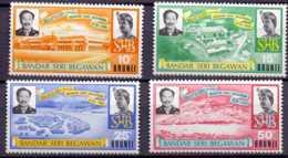 1974 Brunei 2 Years Of Ranaming The Capital From Brunei To Bandar Seri Begawan MNH** MiNr. 174 - 177 Port, Architecture - Brunei (1984-...)