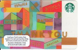 UK - Thank You, Starbucks Card, CN : 6120, Unused - Gift Cards