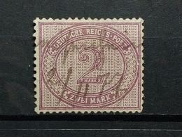 Deutsche Reich Mi-Nr.37  Federzugentwertung - Usati