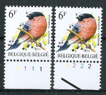 BELGIE * Buzin * Nr 2295 P7b  Plaatnr 1+2 * Postfris Xx - Número De Planchas
