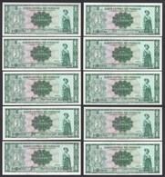 Paraguay 10 Stück á 1 Guarani Banknoten 1952 Pick 193a UNC (1)  (89019 - Banknoten