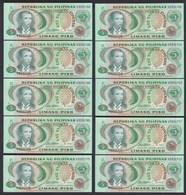 PHILIPPINEN - PHILIPPINES 10 Stück á 5 Piso (1978) Pick 160b UNC (1)   (89023 - Banknoten
