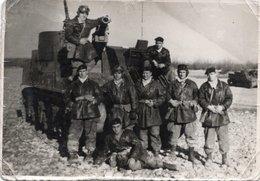 FO-00301- FOTOGRAFIA ORIGINALE CARRO ARMATO MILITARI VERCELLI 27-2-61 - Guerra, Militari
