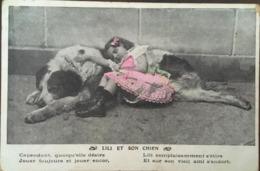 Cpa, Fantaisie, LILI Et Son Chien, éd J.C Paris, écrite En 1907, Timbre - Dogs