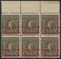 2 X 186 V Block De 6 – Cat = 35.00 – MNH / ** Olympiade 1920 - Errors And Oddities