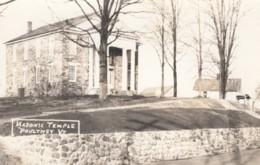 Poultney Vermont, Masonic Temple, Architecture, C1940s Vintage Real Photo Postcard - United States