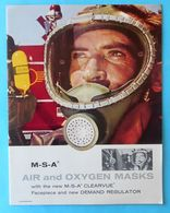 MSA - AIR AND OXYGEN MASKS Old Brochure MASQUES D'AIR ET D'OXYGÈNE LUFT- UND SAUERSTOFFMASKEN MASCHERE ARIA E OSSIGENO - Sciences & Technique
