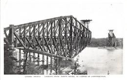 Québec - B&W - Bridge Construction Pont - By Novelty Mfg. & Art Co. - Unused - 2 Scans - Québec - Les Rivières