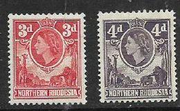 Northern Rhodesia, EIIR, 3d, 4d, MH * - Rhodesia Del Nord (...-1963)