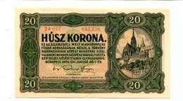 HUNGARY 20 KORONA 1920 CRISP UNC 3.25 - Hungary