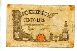ITALY 100 LIRE 1943 VG+ 7.25 - 100 Lire