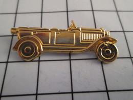 716b Pin's Pins / Beau Et Rare / THEME : AUTOMOBILES / GRAND TACOT DEBUT XXe S EN METAL JAUNE - Autres