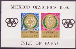 JO Mexico 1968 Pabay - Grande Bretagne Y&T N°BF(1a) - Michel N°B(?) *** - Non Dentelé - Ete 1968: Mexico