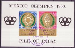 JO Mexico 1968 Pabay - Grande Bretagne Y&T N°BF(1a) - Michel N°B(?) (o) - Non Dentelé - Ete 1968: Mexico