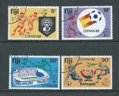 Fiji 1982 Spain Soccer World Cup Set 4 FU - Fiji (1970-...)