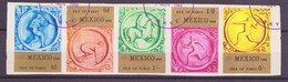 JO Mexico 1968 Pabay - Grande Bretagne Y&T N°(1a à 5a) - Michel N°(?) (o) - Non Dentelé - Bande - Ete 1968: Mexico