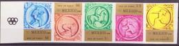 JO Mexico 1968 Pabay - Grande Bretagne 1968 Y&T N°(1a à 5a) - Michel N°(?) *** - Non Dentelé - Bande - Ete 1968: Mexico