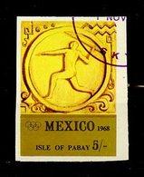 JO Mexico 1968 Pabay - Grande Bretagne Y&T N°(5a) - Michel N°(?) (o) - 5/- Javelot - Non Dentelé - Ete 1968: Mexico