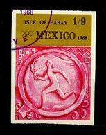 JO Mexico 1968 Pabay - Grande Bretagne Y&T N°(4a) - Michel N°(?) (o) - 1/9 Arrivée De La Flamme Olympique - Non Dentelé - Ete 1968: Mexico