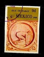JO Mexico 1968 Pabay - Grande Bretagne Y&T N°(2a) - Michel N°(?) (o) - 9d Course De Vitesse - Non Dentelé - Ete 1968: Mexico