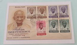 1)......India Beautiful Gandhi Post Card - Inde