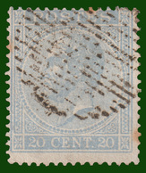 COB NO 18 - TB -Belle Oblitération RURALE (18 Barres) - 1865-1866 Linksprofil