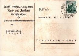 ! 1934 Postkarte Deutsches Reich, Stempel Grossharthau, Sachsen - Germany